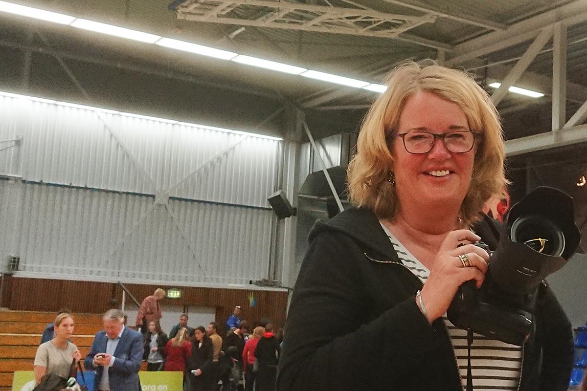 Marja van Tilburg, de vaste fotograaf van ZZ Leiden.